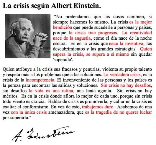Crisis. A. Einstein